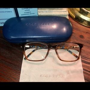 Cole Haan Brown Horn Frames w/Case